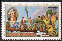 Cook Islands SG276 1988 Captain Cook 25c mounted mint